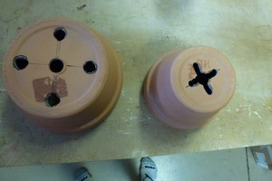 Figure 1...Two hole patterns used in Drop Pots